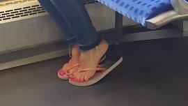 Very sexy brunette teen feet pt.2