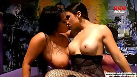 Ashley Cum Star and Mira Cuckold trained fuck dolls - GGG