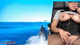 Real Gamer Girl Amateur Masturbating While Playing GTA 5 Online