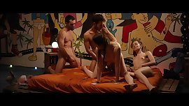Queen of group sex enjoys fat cocks... (Bisexual Party)