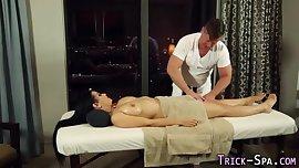 tattoo lady gets massage.