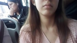 rich college girl in bus morrita