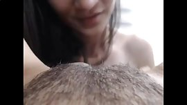 Hungry lesbian eating her gf's ass and pussy