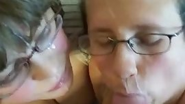 Two nerdy barely legal coed girls receive facial f