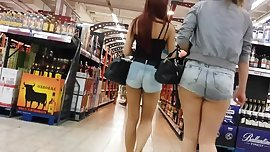 Hot teens in sexy jeans hotpants