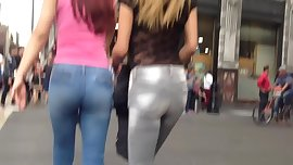Two sexy teen asses