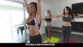 Dyked - Yoga Babe Gropes Innocent Teens