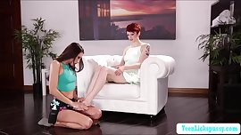 Lesbi teens Bree Daniels and Celeste Star scissor sex