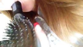 gordibuena masturbandose con un hairbrush