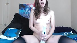 Intense hitatchi fucking ends with a massive orgasm